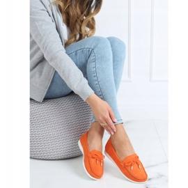 Orange women's loafers RQ-2 Orange 2