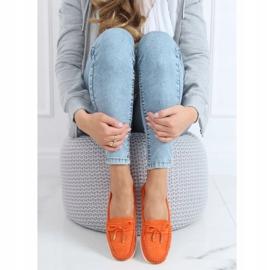 Orange women's loafers RQ-2 Orange 3