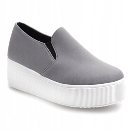 Creepers Sneakers On Platform 812 Gray grey 1