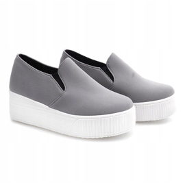 Creepers Sneakers On Platform 812 Gray grey 2