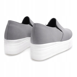 Creepers Sneakers On Platform 812 Gray grey 3