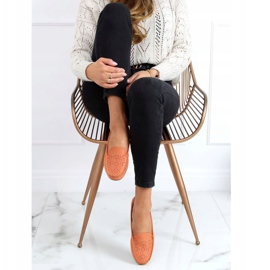Orange openwork loafers XR-1R6 Orange 2