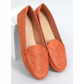 Orange openwork loafers XR-1R6 Orange 1