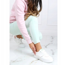 White women's sports shoes BL218P Pink 3