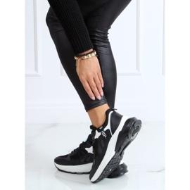 Black sports shoes for women B0-553 Black 2