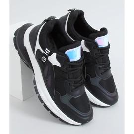 Black sports shoes for women B0-553 Black 1