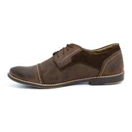 Olivier Men's leather shoes 253 brown 1