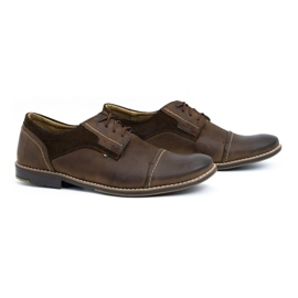 Olivier Men's leather shoes 253 brown 2