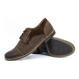 Olivier Men's leather shoes 253 brown 3