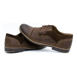 Olivier Men's leather shoes 253 brown 5