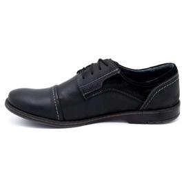 Olivier Men's leather shoes 253 black 1
