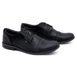 Olivier Men's leather shoes 253 black 2