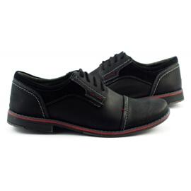 Olivier Men's leather shoes 253 black 5