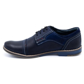 Olivier Men's leather shoes 253 navy blue 1