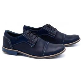 Olivier Men's leather shoes 253 navy blue 2