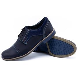 Olivier Men's leather shoes 253 navy blue 3