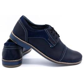 Olivier Men's leather shoes 253 navy blue 4