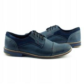 Olivier Men's leather shoes 253 navy blue 5