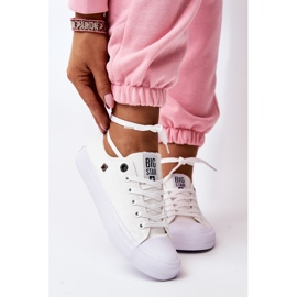 Women's Classic Low Sneakers Big Star AA274010 White 2