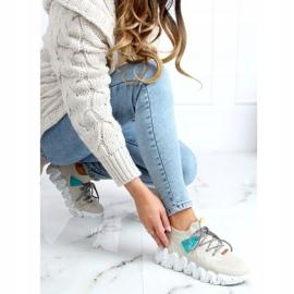 High-soled beige NB387 Beige sports shoes 2