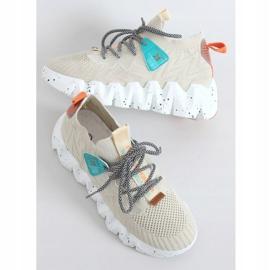 High-soled beige NB387 Beige sports shoes 3