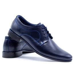 Lukas Men's formal shoes 447 navy blue 10