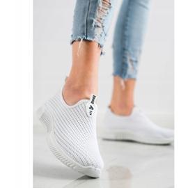 SHELOVET Comfortable Textile Sneakers white 2