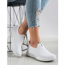 SHELOVET Comfortable Textile Sneakers white 3