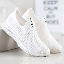 SHELOVET Comfortable Textile Sneakers white 1