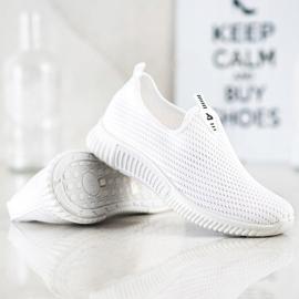 SHELOVET Comfortable Textile Sneakers white 4