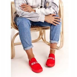 Women's Sneakers Slip-on Big Star FF274220 Red 3
