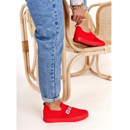 Women's Sneakers Slip-on Big Star FF274220 Red 4