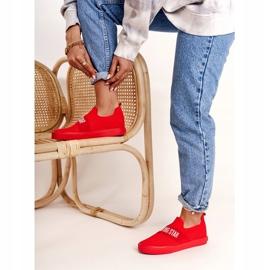 Women's Sneakers Slip-on Big Star FF274220 Red 5