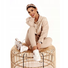 Women's Lace Sneakers Big Star W274925 White 8