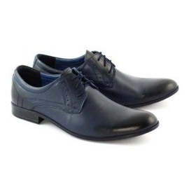 TAPI Men's elegant shoes 4536 navy blue 2