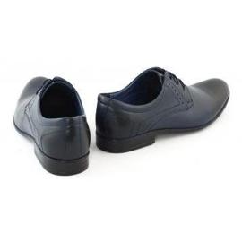 TAPI Men's elegant shoes 4536 navy blue 4