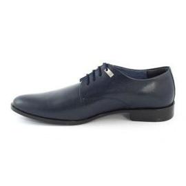 Formal men's shoes 090 navy blue 1