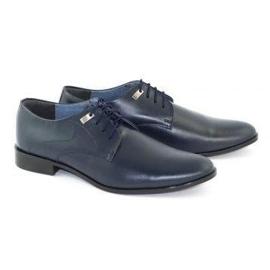 Formal men's shoes 090 navy blue 2
