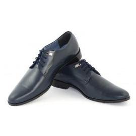 Formal men's shoes 090 navy blue 3