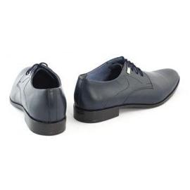 Formal men's shoes 090 navy blue 4
