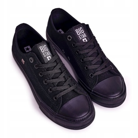Big Star Mens Low Sneakers Black AA174009SS19 5