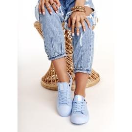 Women's Classic Low Sneakers Big Star AA274029 Light Blue 4