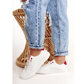 Women's Leather Sneakers Big Star BB274210 White and Red 3