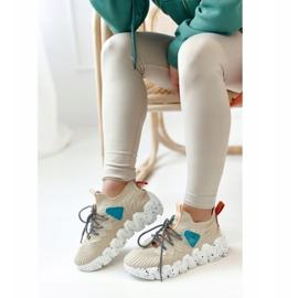 PS1 Women's Sports Socks Beige Fashion Pioneer brown 4