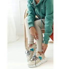 PS1 Women's Sports Socks Beige Fashion Pioneer brown 5