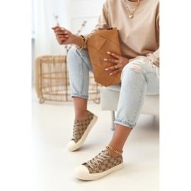 Women's Classic Logged Khaki Challenge Sneakers beige brown 6