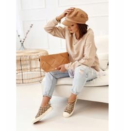 Women's Classic Logged Khaki Challenge Sneakers beige brown 1