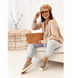 Women's Classic Logged Khaki Challenge Sneakers beige brown 2
