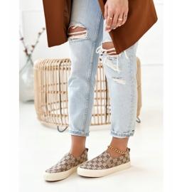 Women's Logged Sneakers Slip-On Khaki Challenge beige brown 1