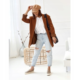 Women's Logged Sneakers Slip-On Khaki Challenge beige brown 4